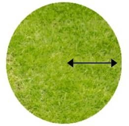 circle turf measurment