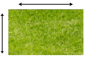 rectangle turf grass