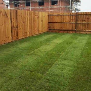 large garden fencing