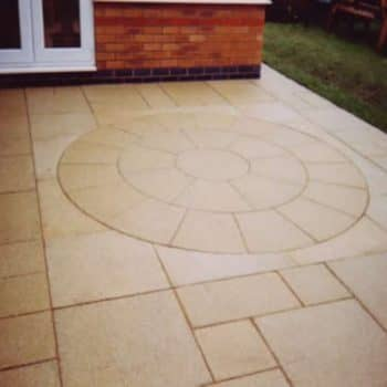 small slabbed patio