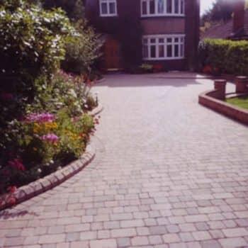 residential slabbed garden